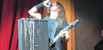 dave grohl foo fighters beer chug stage fall the joint at hard rock hotel in las vegas