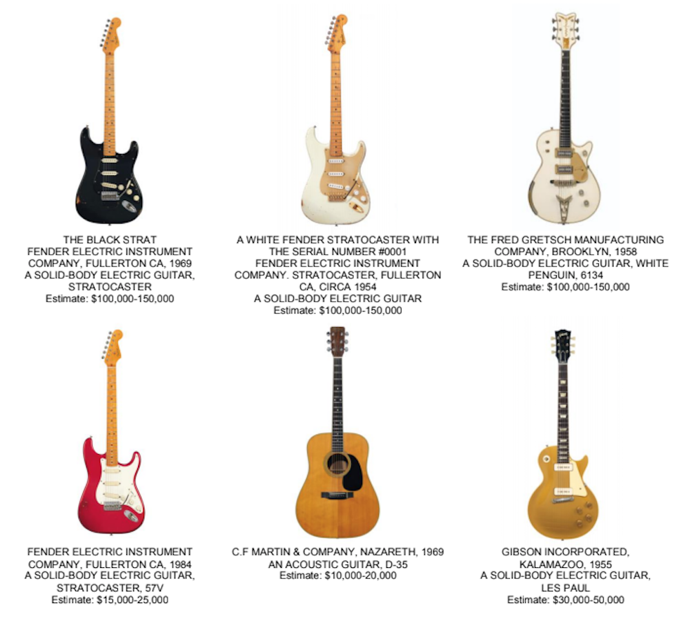 David Gilmour auctioning 120 guitars, including ones used on famous