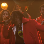 "Video Flatbush Zombies ""Headstone"" James Corden performance"