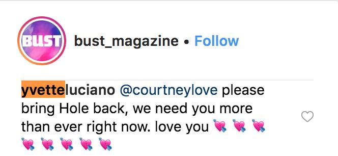 hole reunion request courtney love bikini kill Courtney Love reignites Bikini Kill feud: DIY nonsense dilettante