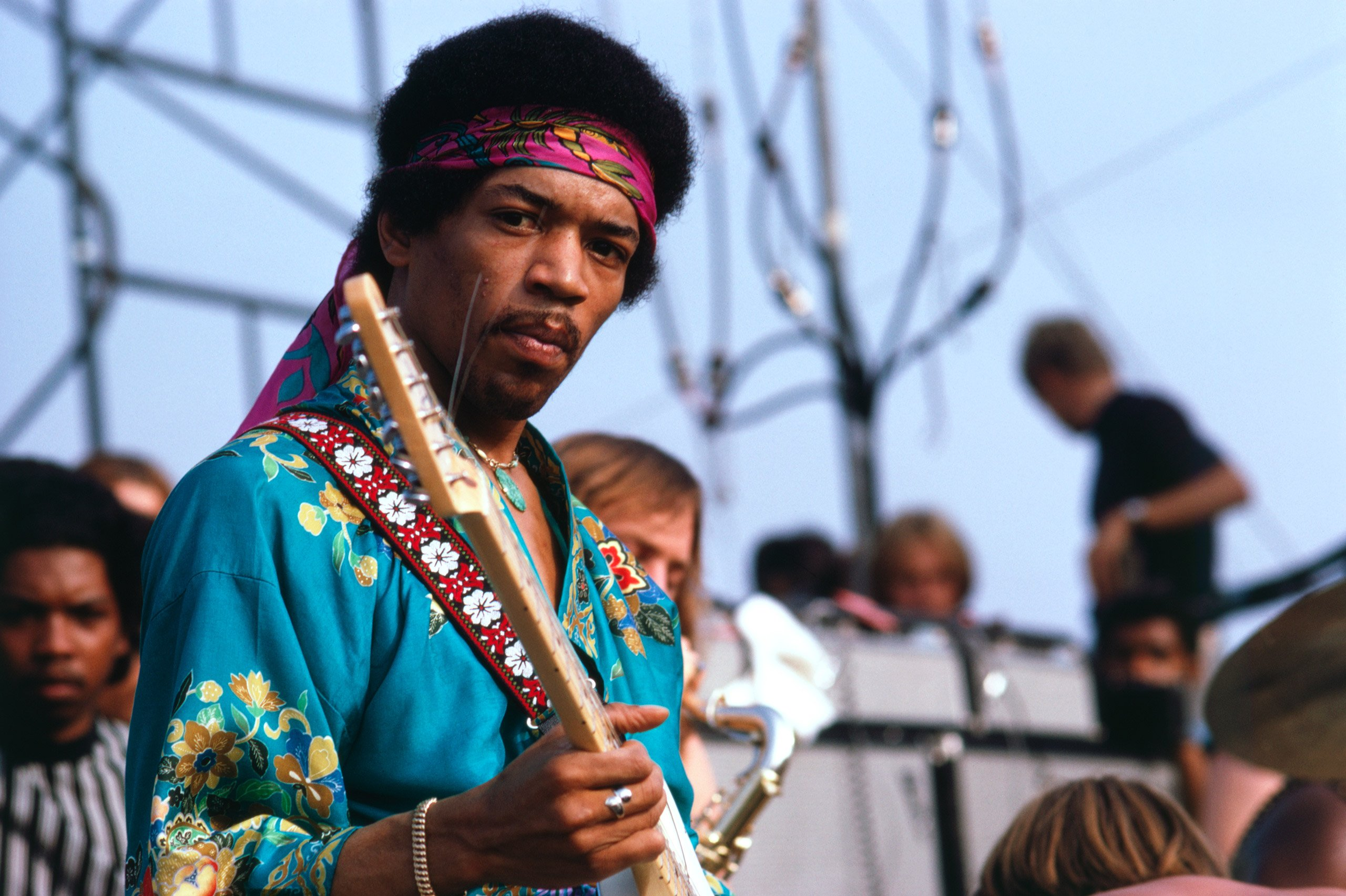 Jimi Hendrix at Newport Pop Festival