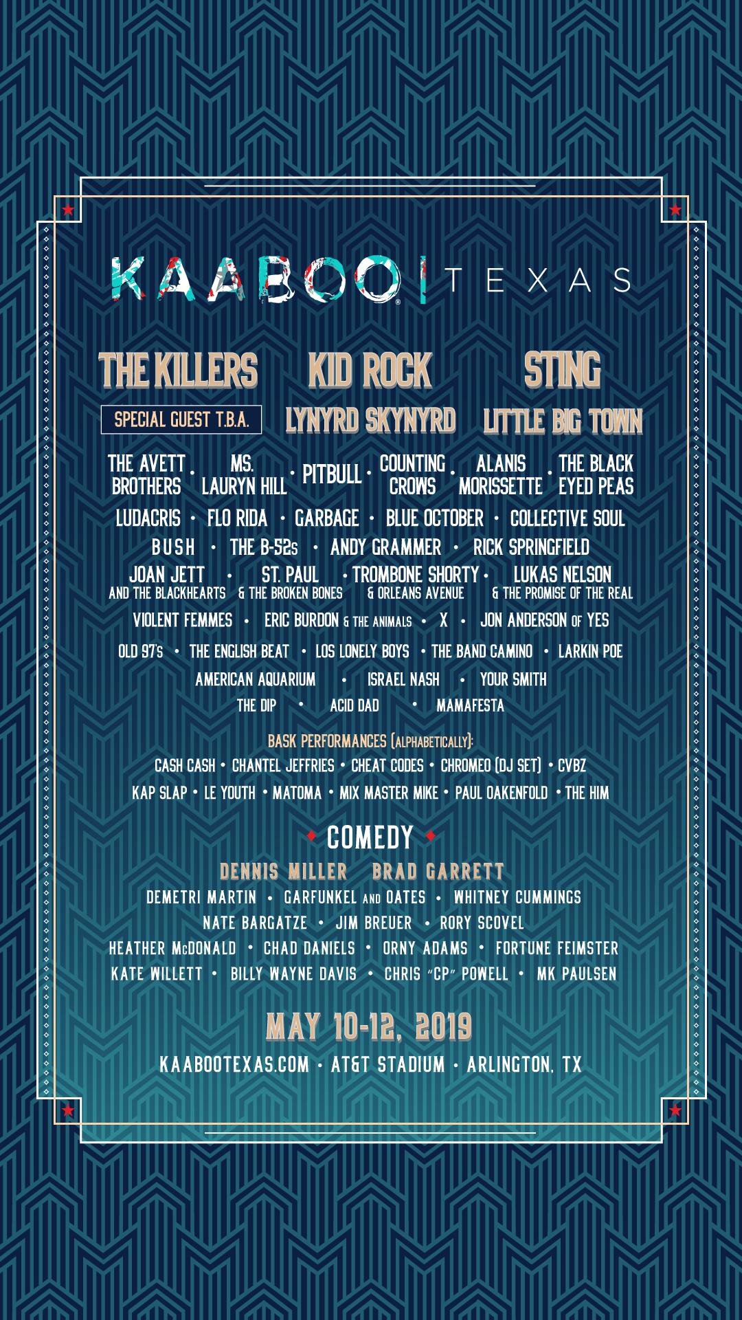 kaaboo texas 2019