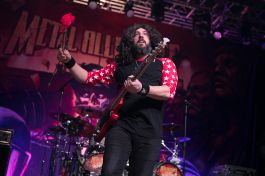 Mark Menghi performs with Metal Allegiance