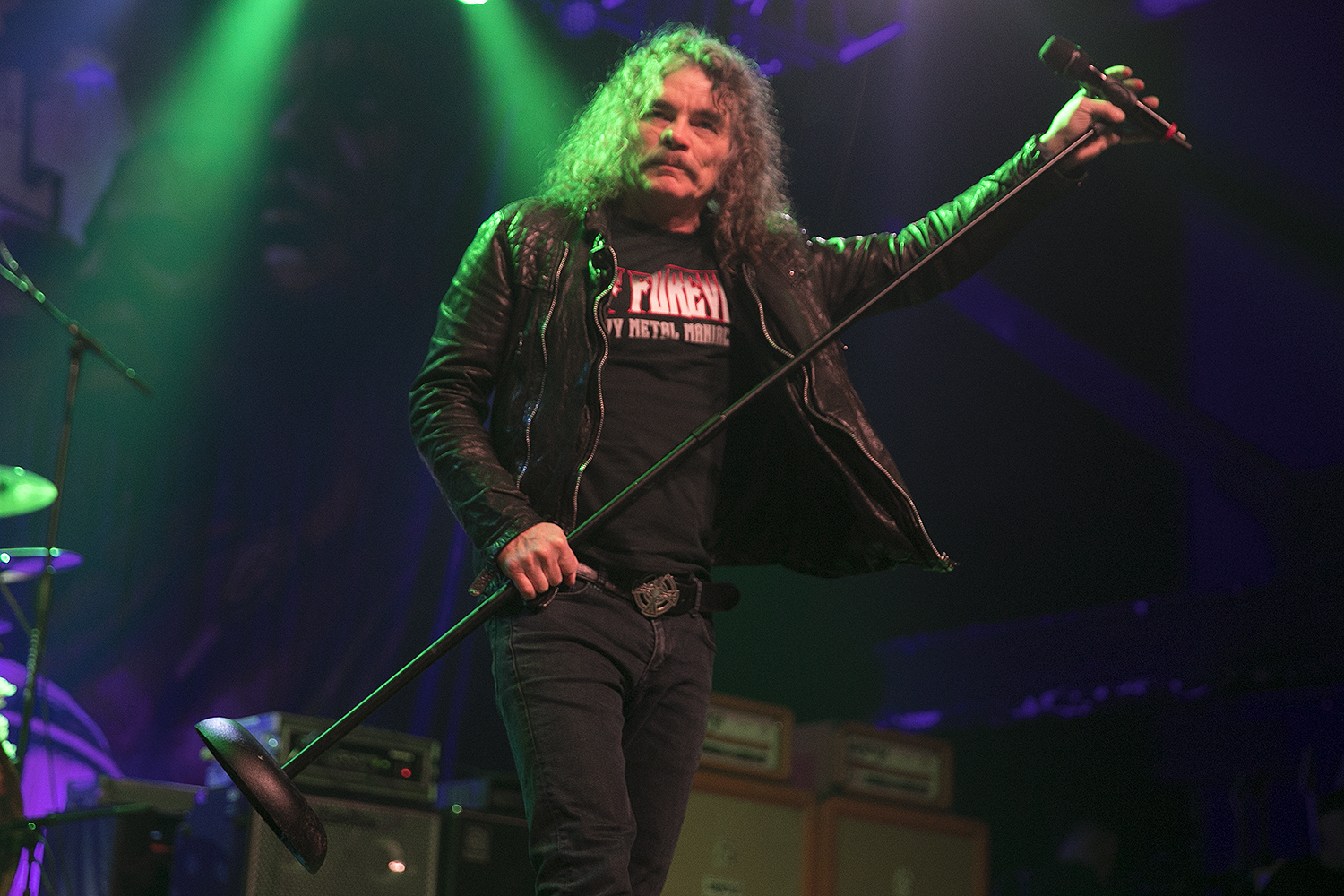 Bobby Blitz performs with Metal Allegiance
