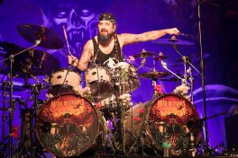 Mike Portnoy performs with Metal Allegiance