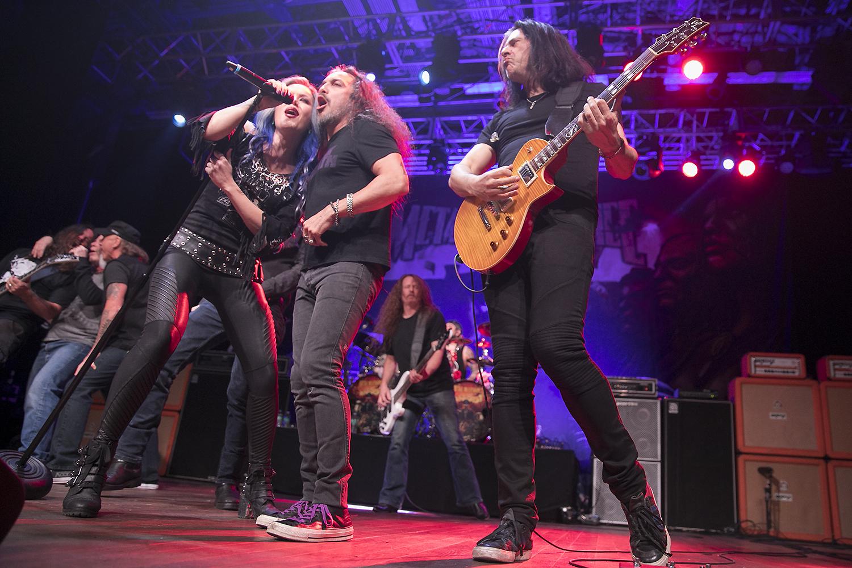 Metal Allegiance perform in Anaheim
