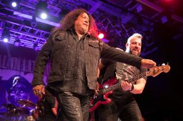 Chuck Billy and Mark Menghi perform with Metal Allegiance