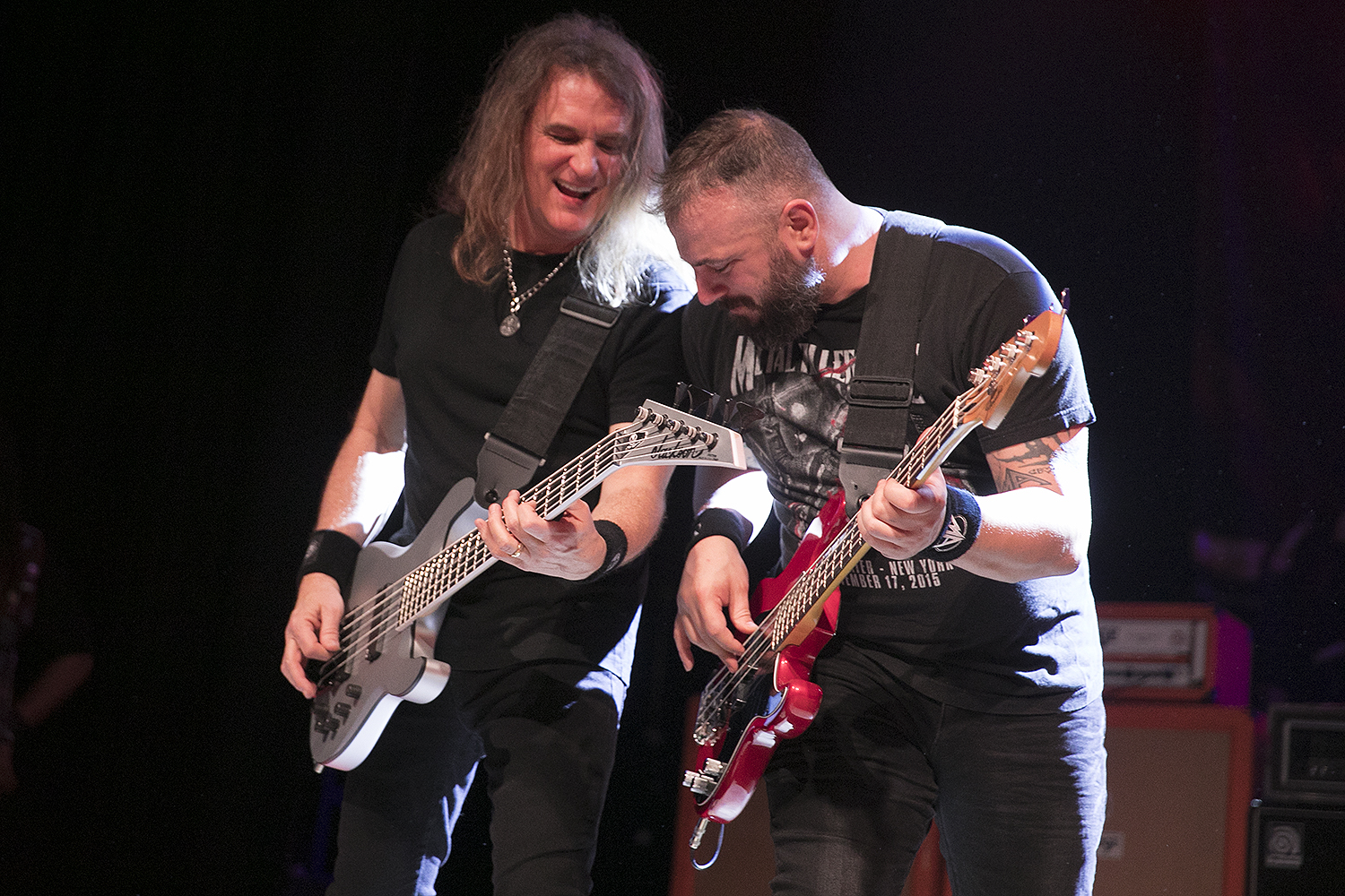 David Ellefson and Mark Menghi perform with Metal Allegiance