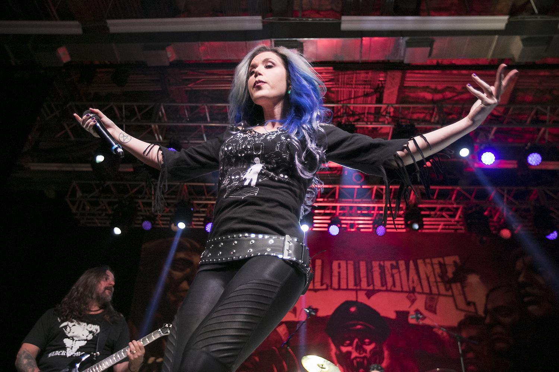 Alissa White-Gluz performs with Metal Allegiance