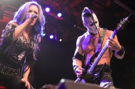 Alissa White-Gluz and Doyle Wolfgang Von Frankenstein perform with Metal Allegiance