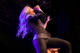 Alissa White-Gluz performs with Metal Allegiance
