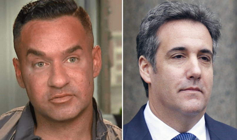 "Mike ""The Situation"" Sorrentino and Michael Cohen"