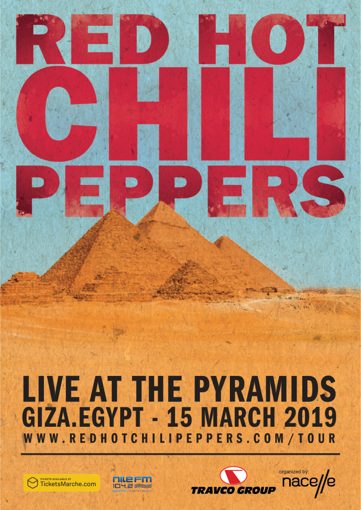 poster Red Hot Chili Peppers to rock Egypts Great Pyramids, reveal new album sessions halted by wildfire