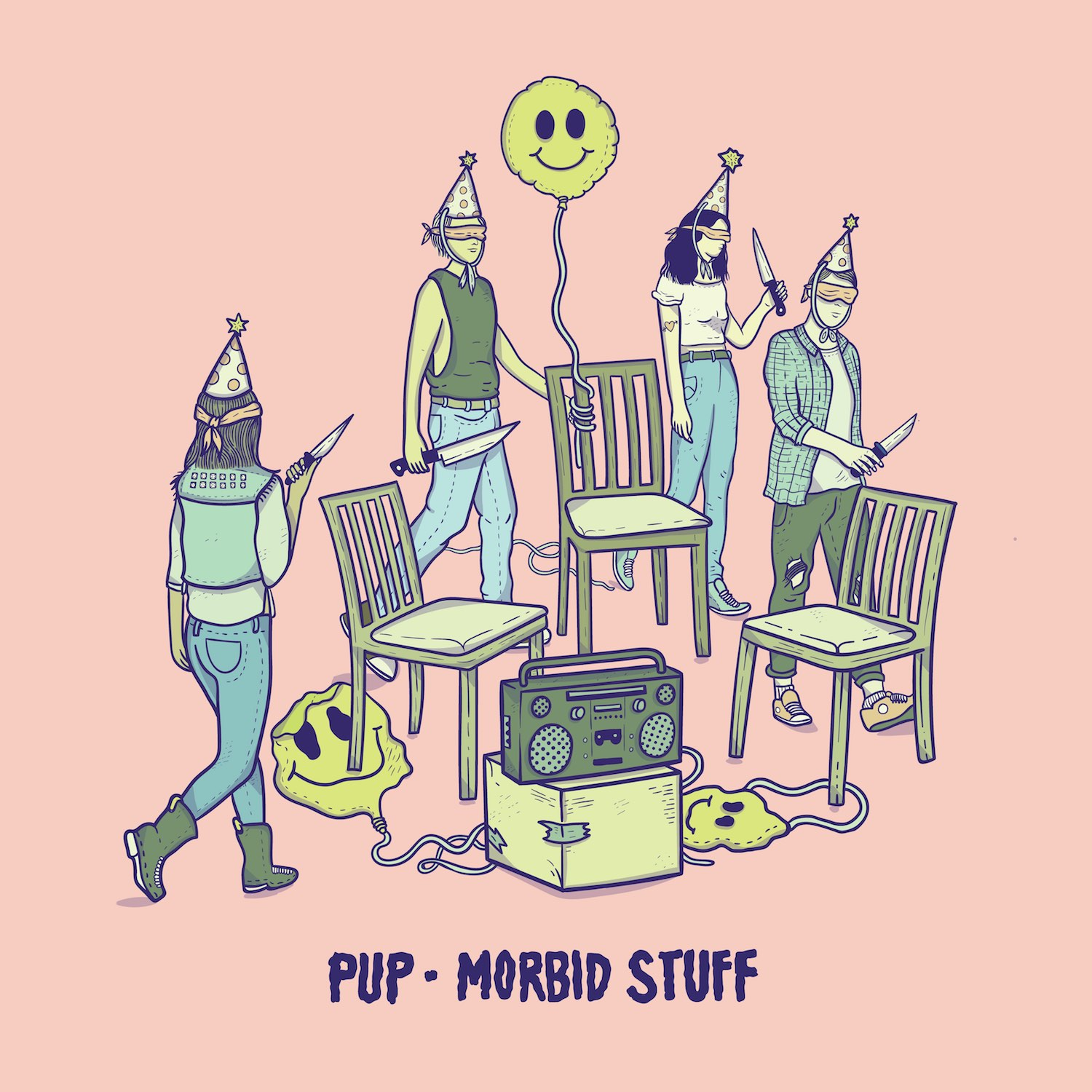 Pup Morbid stuff Album Cover Artwork