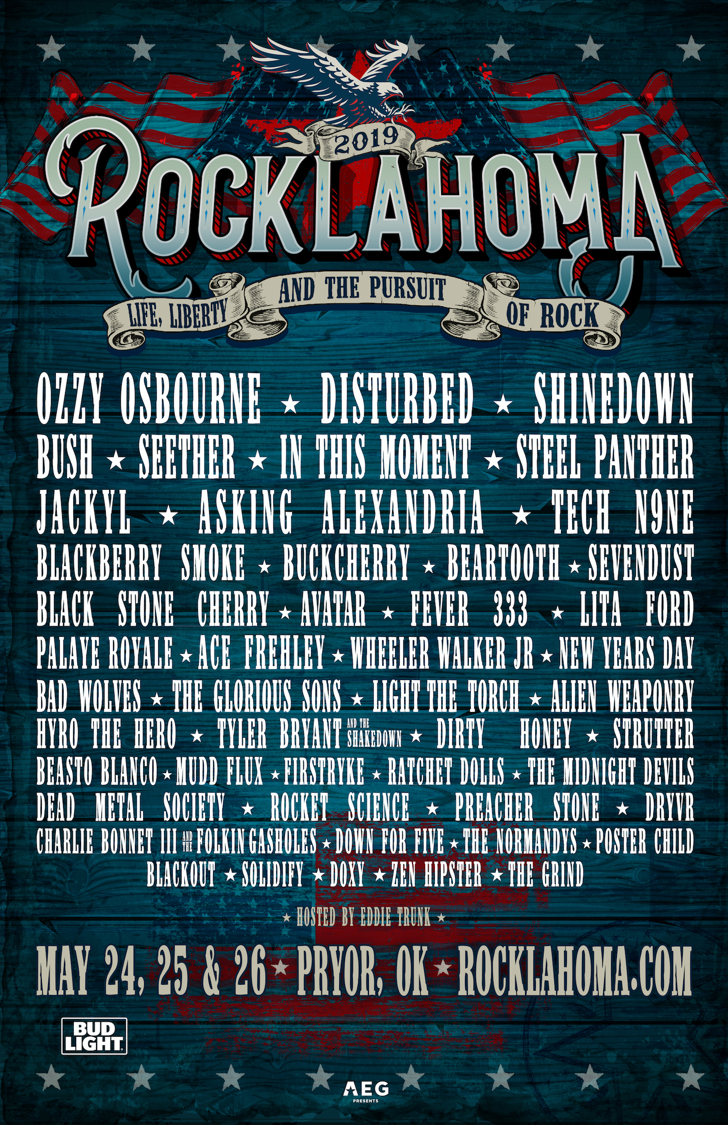 Rocklahoma 2019 Poster