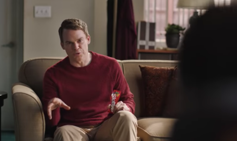 skittles musical michael c hall super bowl