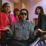 Sleater-Kinney with St. Vincent, photo by Jonny Stills