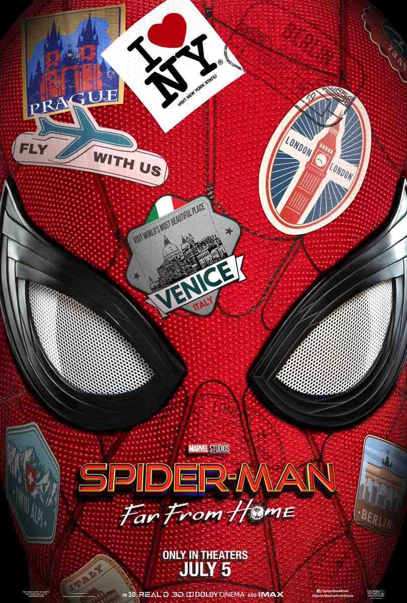 spider-man far from home poster marvel studios