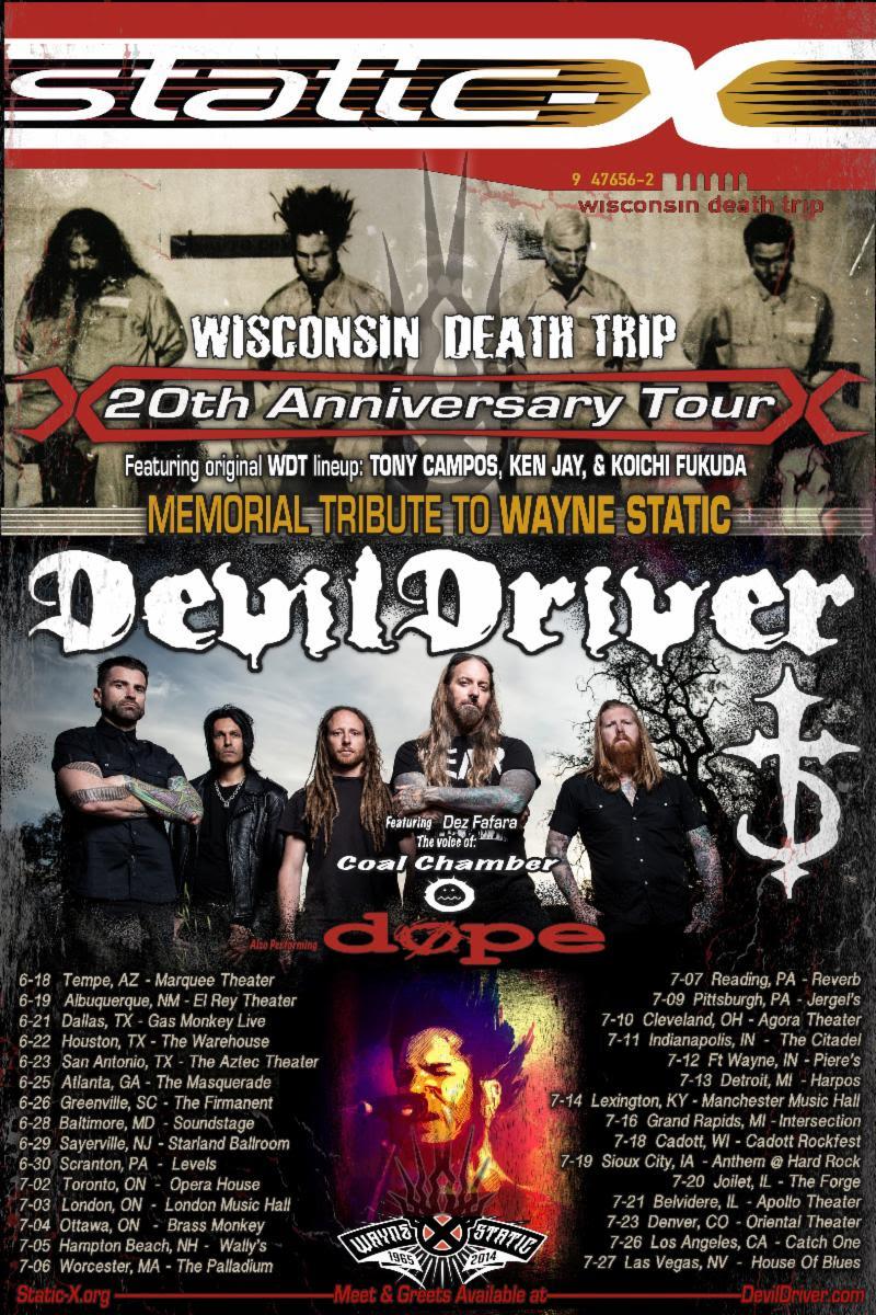 Static-X DevilDriver tour poster