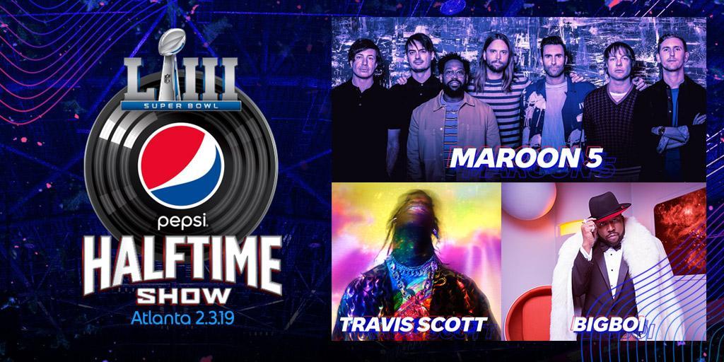 2019 Super Bowl Halftime maroon 5 travis scott big boi
