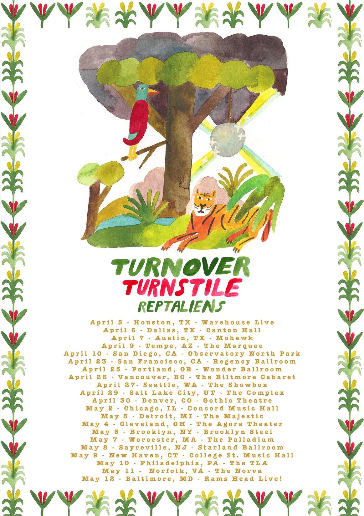 Turnstile Turnover Tour Poster