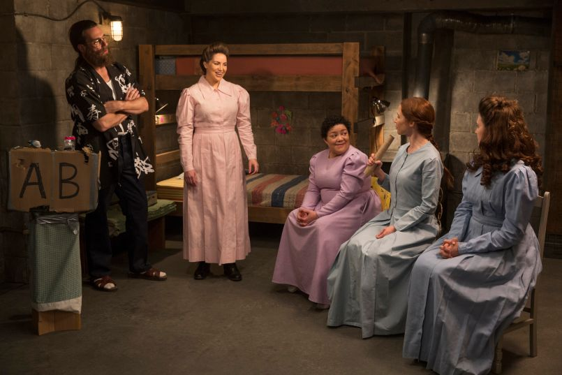 Jon Hamm, Sara Chase, Sol Miranda, Ellie Kemper, and Lauren Adams, The Unbreakable Kimmy Schmidt, Netflix