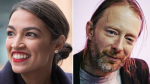 Alexandria Ocasio-Cortez and Thom Yorke