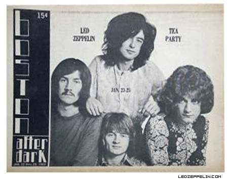 Led Zeppelin Boston 1969 Ad