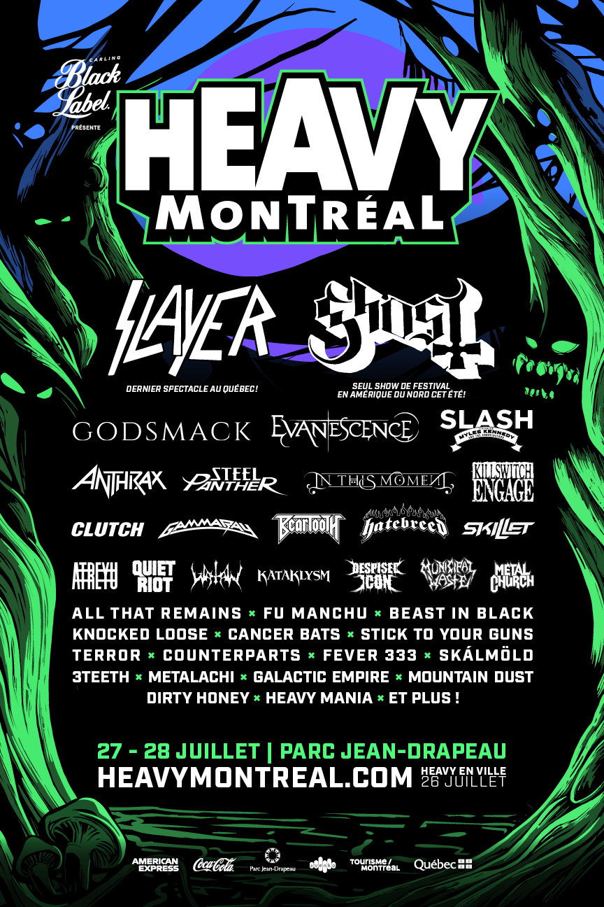 Heavy Montreal 2019 poster