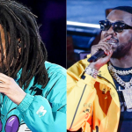 J Cole and Meek Mill at NBA All-Star Game