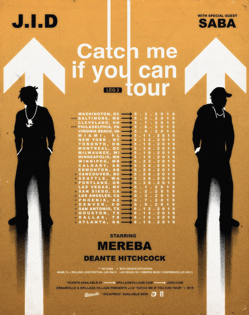 jid saba tour catch me if you can