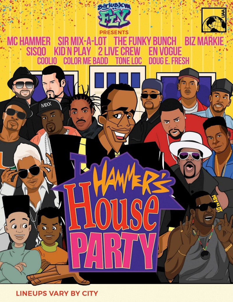 MC Hammer's House Party Tour Dates