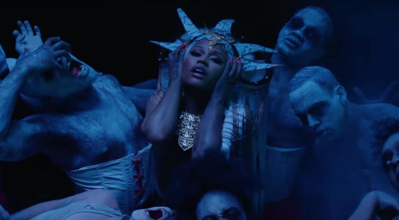 "Nicki Minaj's video for ""Hard White"""