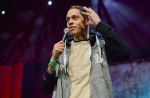 Pete Davidson stand-up comedy heckler Mac Miller interruption removal Ariana Grande Dane Cook