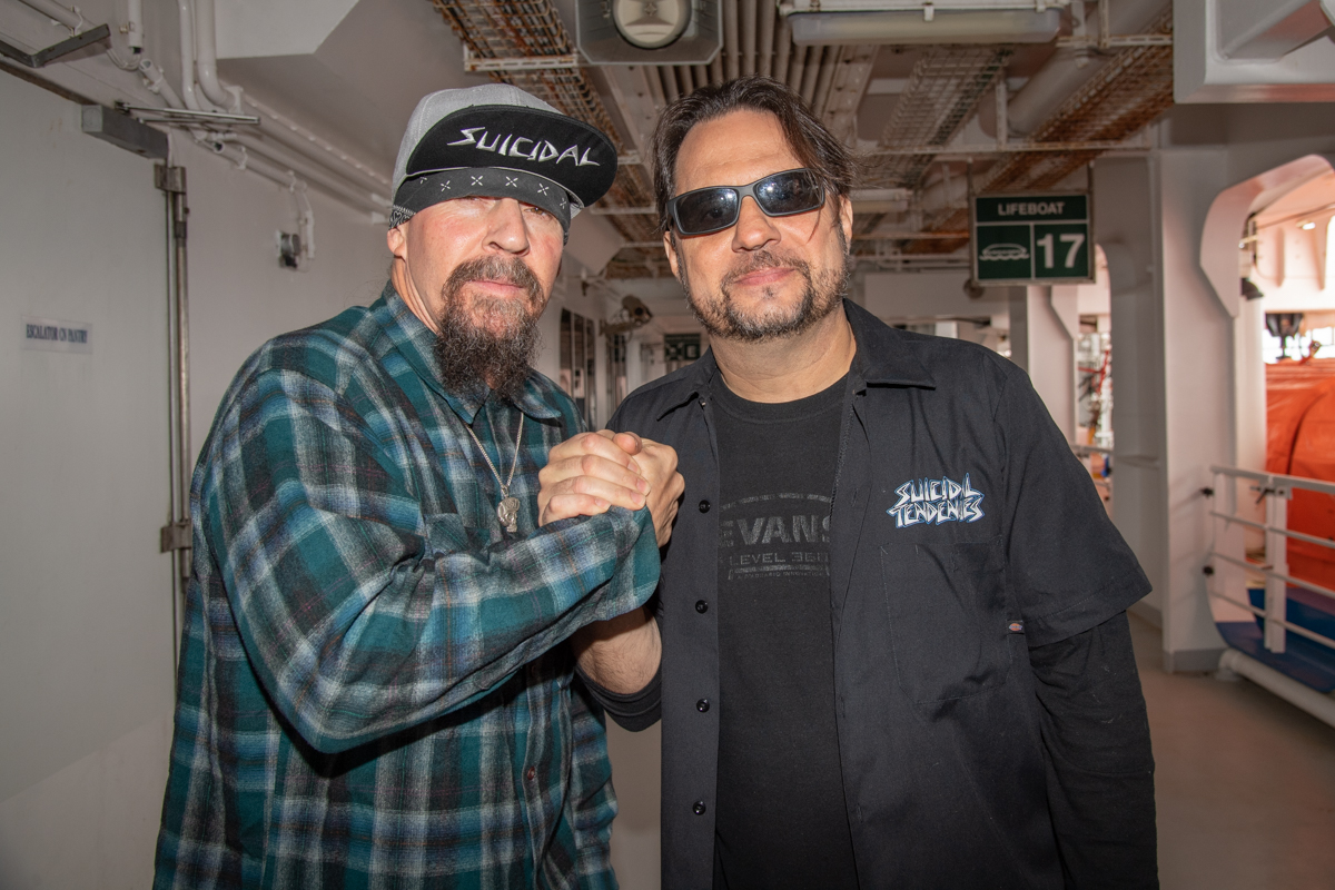 Suicidal Tendencies' Mike Muir and Dave Lombardo at at ShipRocked 2019