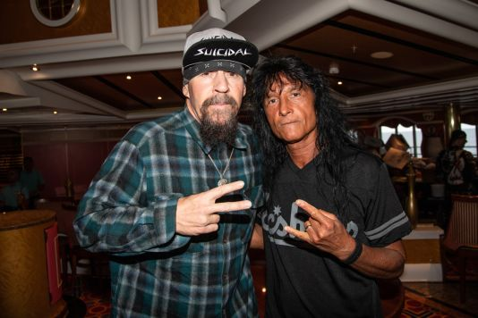 Mike Muir and Joey Belladonna at ShipRocked 2019