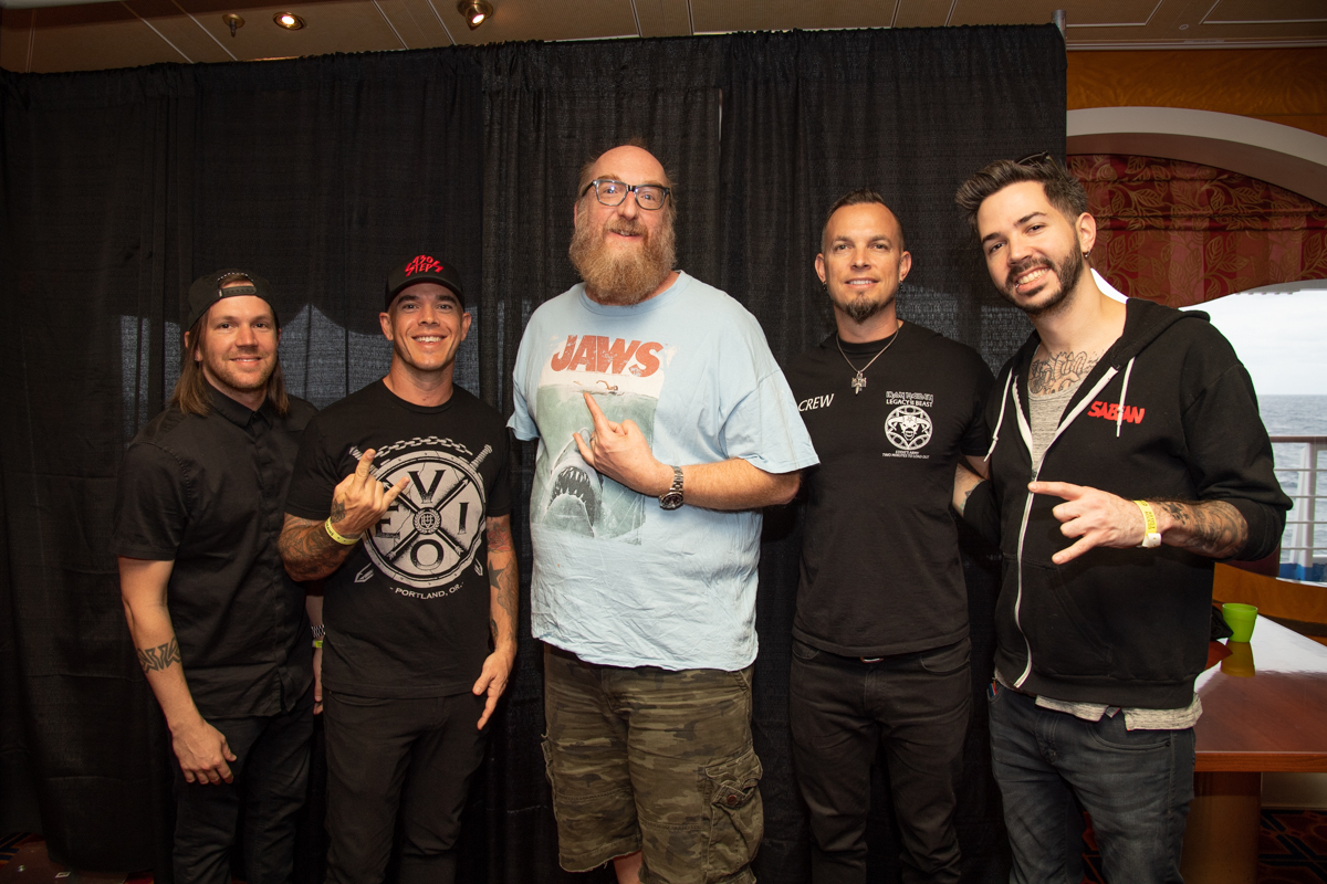 Brian Posehn with Tremonti at ShipRocked 2019