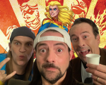 Captain Marvel, Jason Mewes, Kevin Smith, and Jason Lee (photo via Instagram) Jay and silent bob reboot cameo stan lee