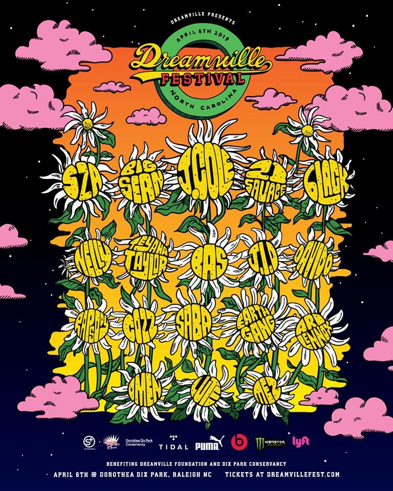 J Cole Dreamville 2019 lineup