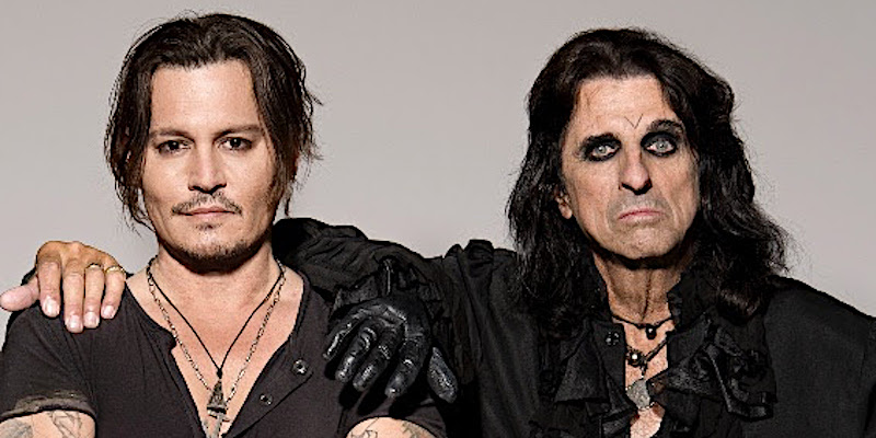 Johnny Depp and Alice Cooper