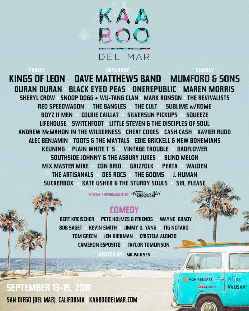 kaaboo del mar 2019 lineup poster