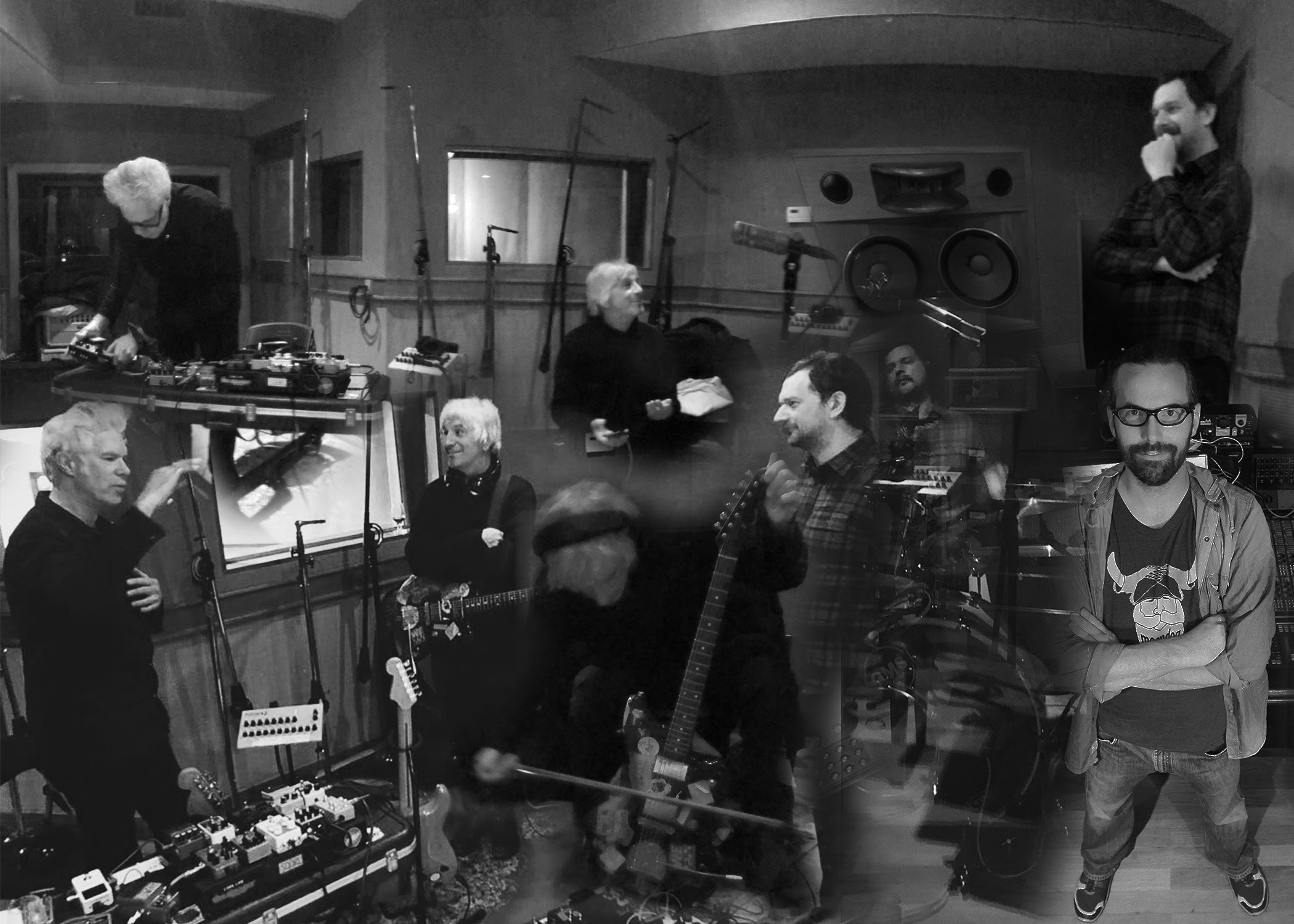 Lee Ranaldo/Jim Jarmusch/ Marc Urselli/Balazs Pandi, Photo by William Semeraro, Black and White, Norway