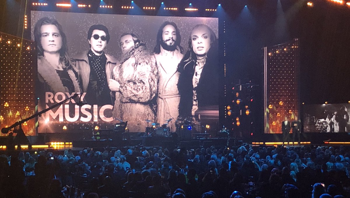 Roxy Music inducted into Rock & Roll Hall of Fame