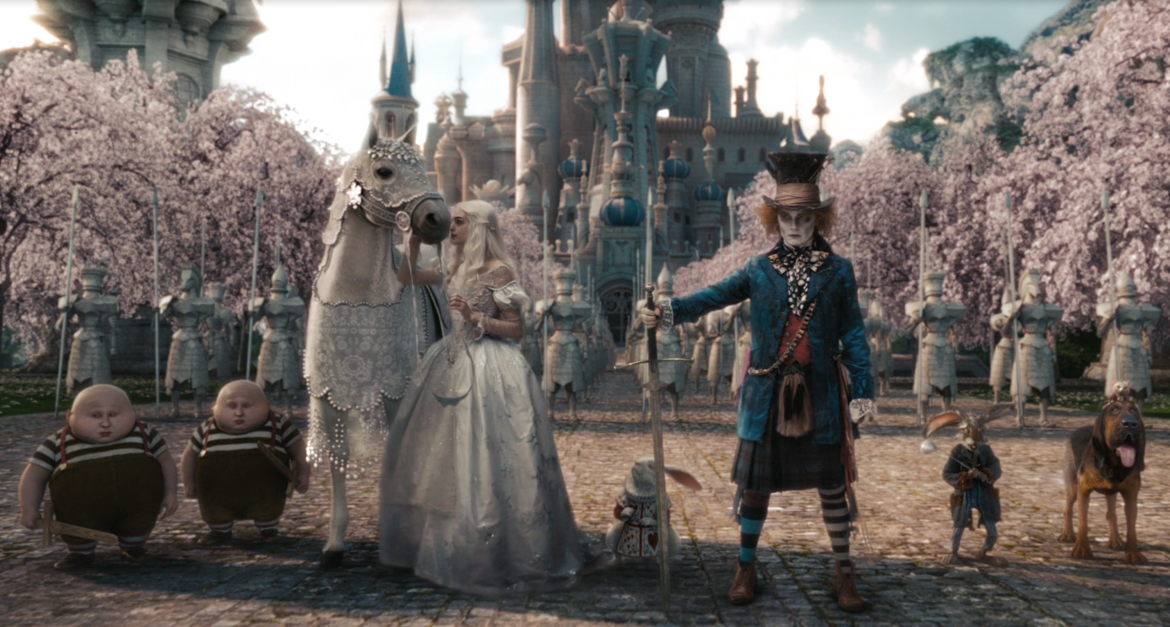 alice in wonderland disney tim burton johnny depp 2010