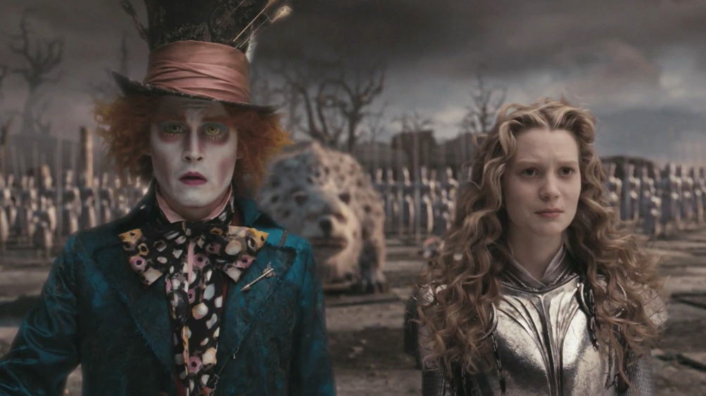 alice in wonderland disney 2010 johnny depp tim burton mia wasikowska