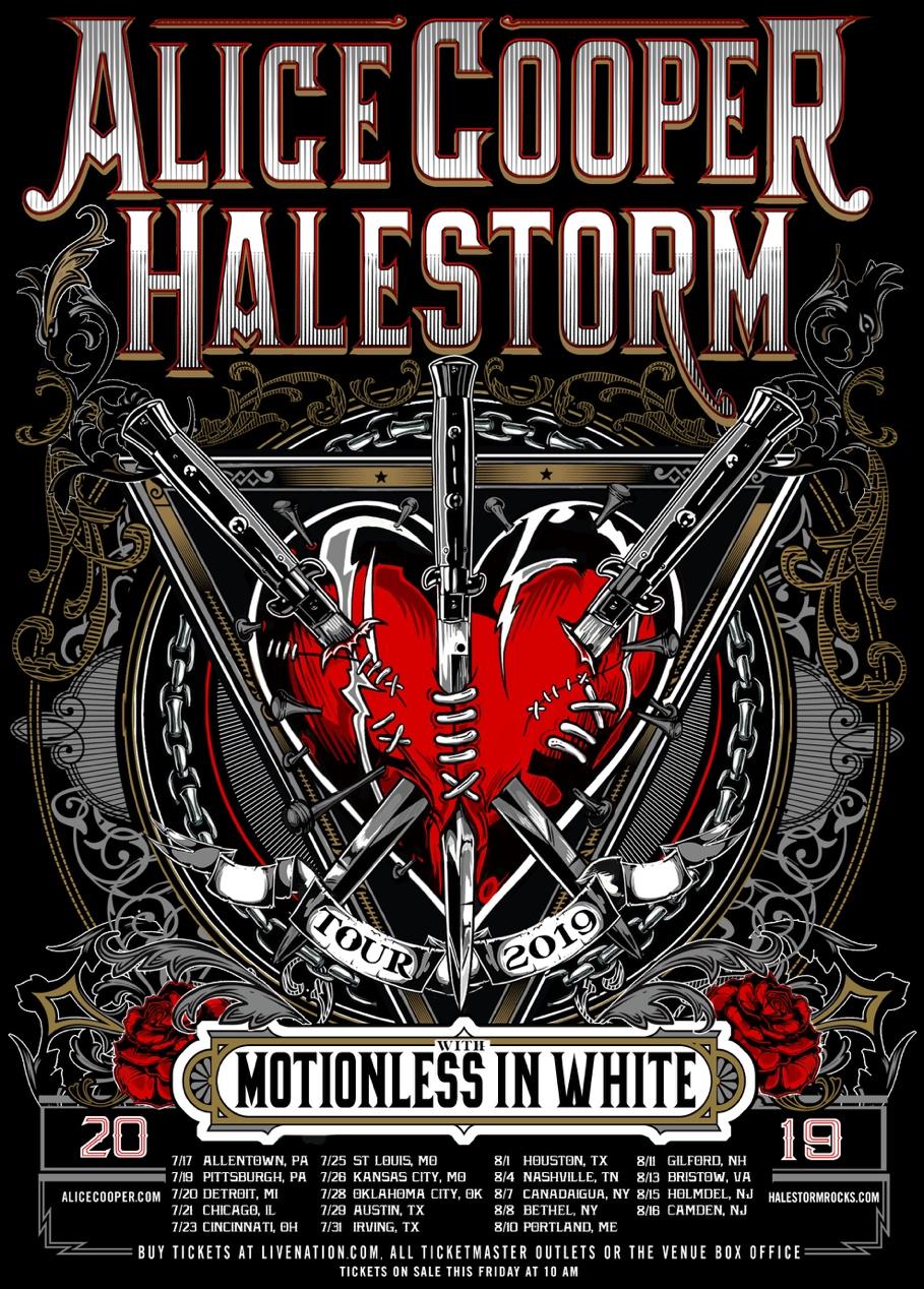 Alice Cooper Halestorm Tour Poster