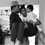 Chance the Rapper, Kirsten Corley, and their daughter Kensli