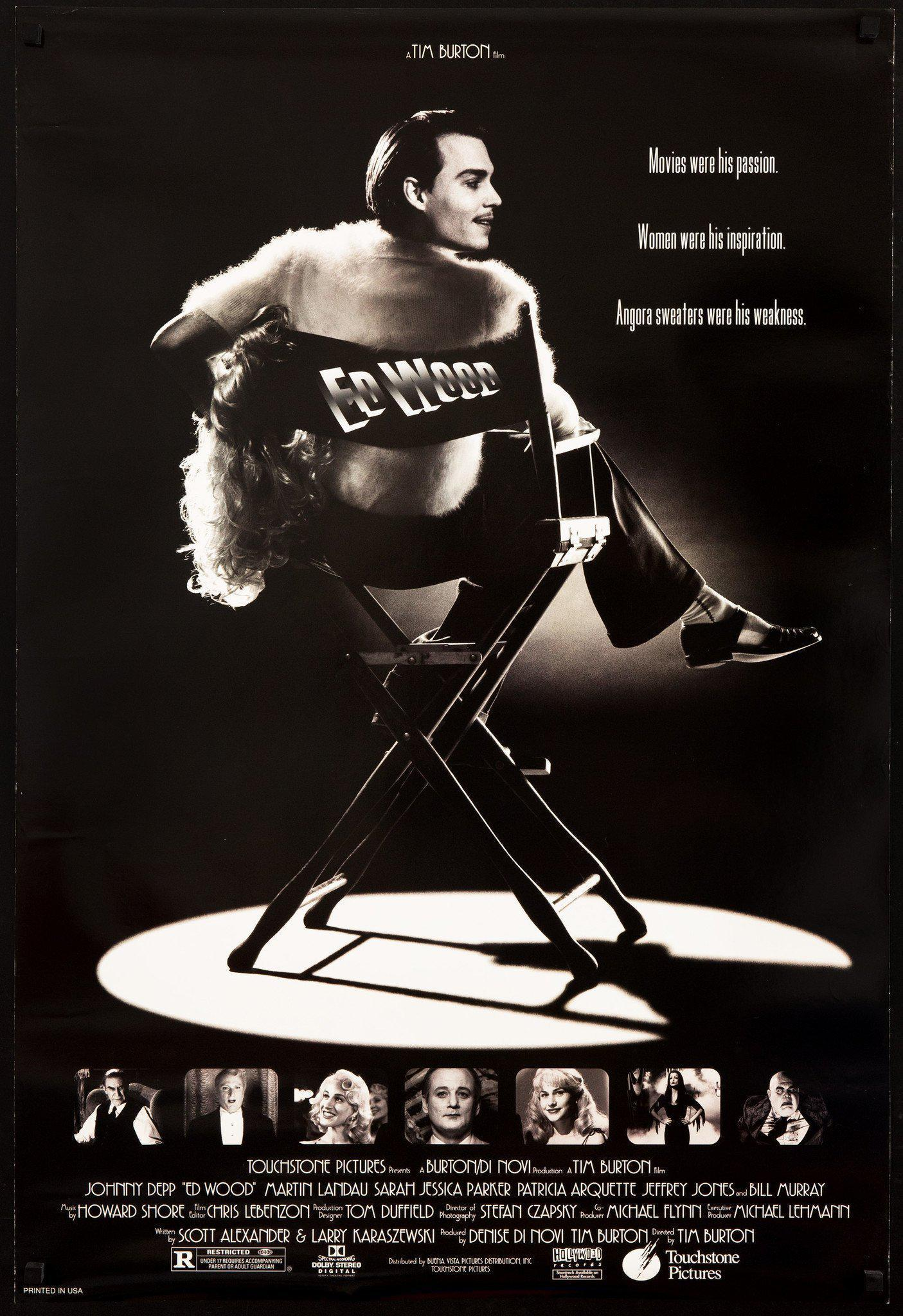 ed wood poster Filmography: Tim Burton Has Always Found Dreams in Reality