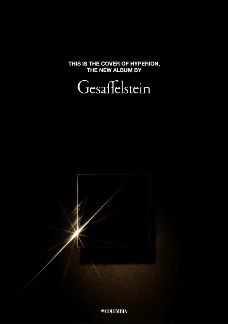 gesaffelstein hyperion album cover artwork release new stream