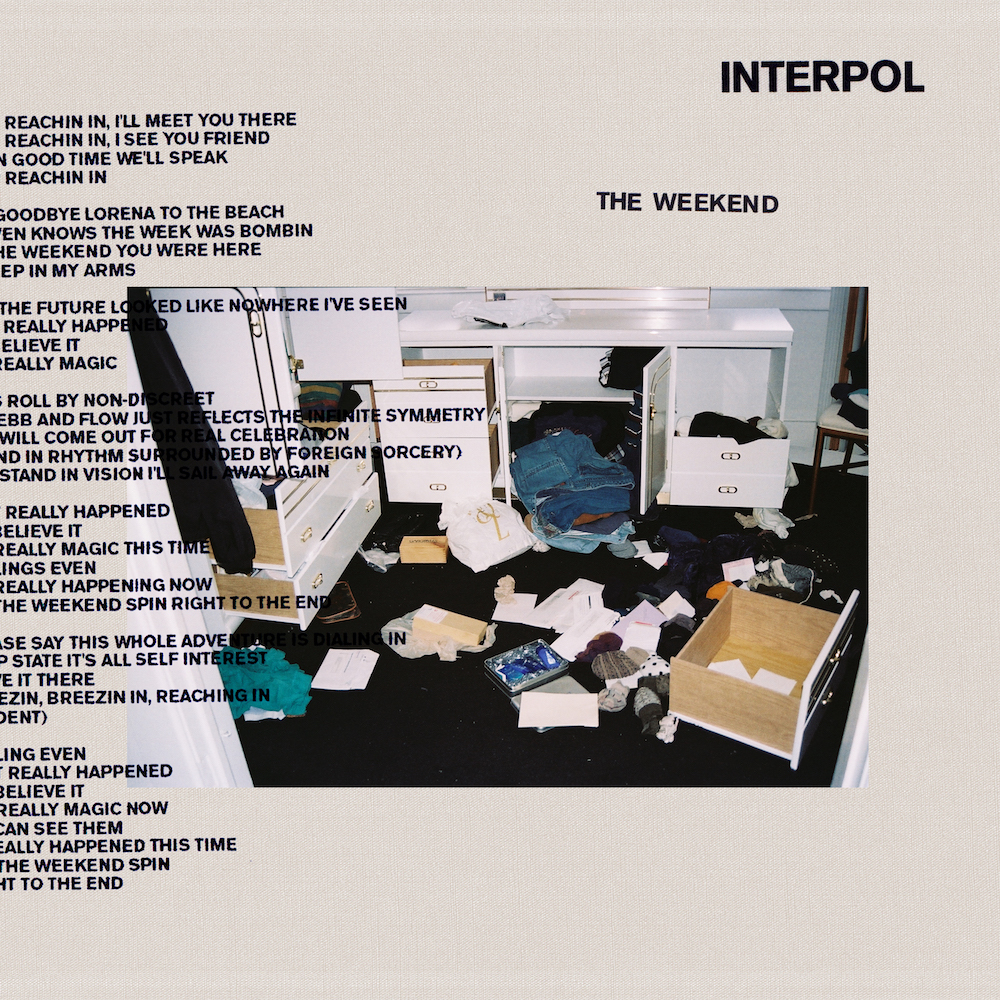 interpol the weekend single artwork cover